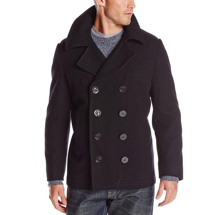 Пальто бушлат Alpha Industries USN Navy Pea Coat (Black) Klost