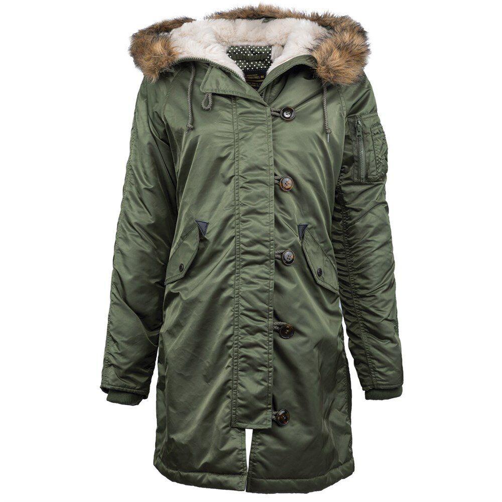 Женская куртка парка Alpha Industries Elyse Parka (Sage Green) Klost