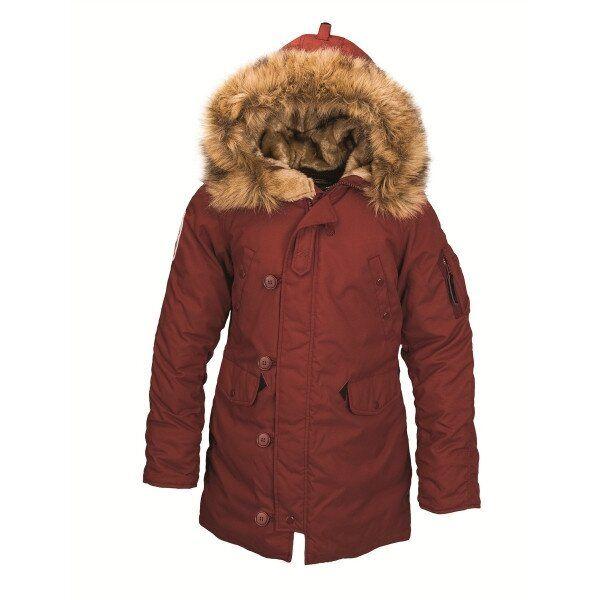 Зимняя женская куртка аляска Alpha Industries Altitude W Parka (Red Ochre) Klost