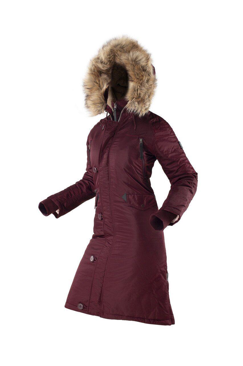 Оригинальная женская длинная зимняя куртка AIRBOSS N-7B Eileen (бордовая) Klost
