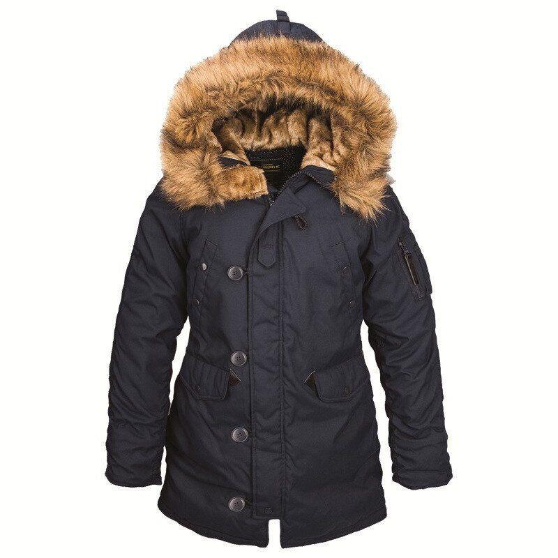 Зимняя женская куртка аляска Alpha Industries Altitude W Parka (Rep.Blue) Klost