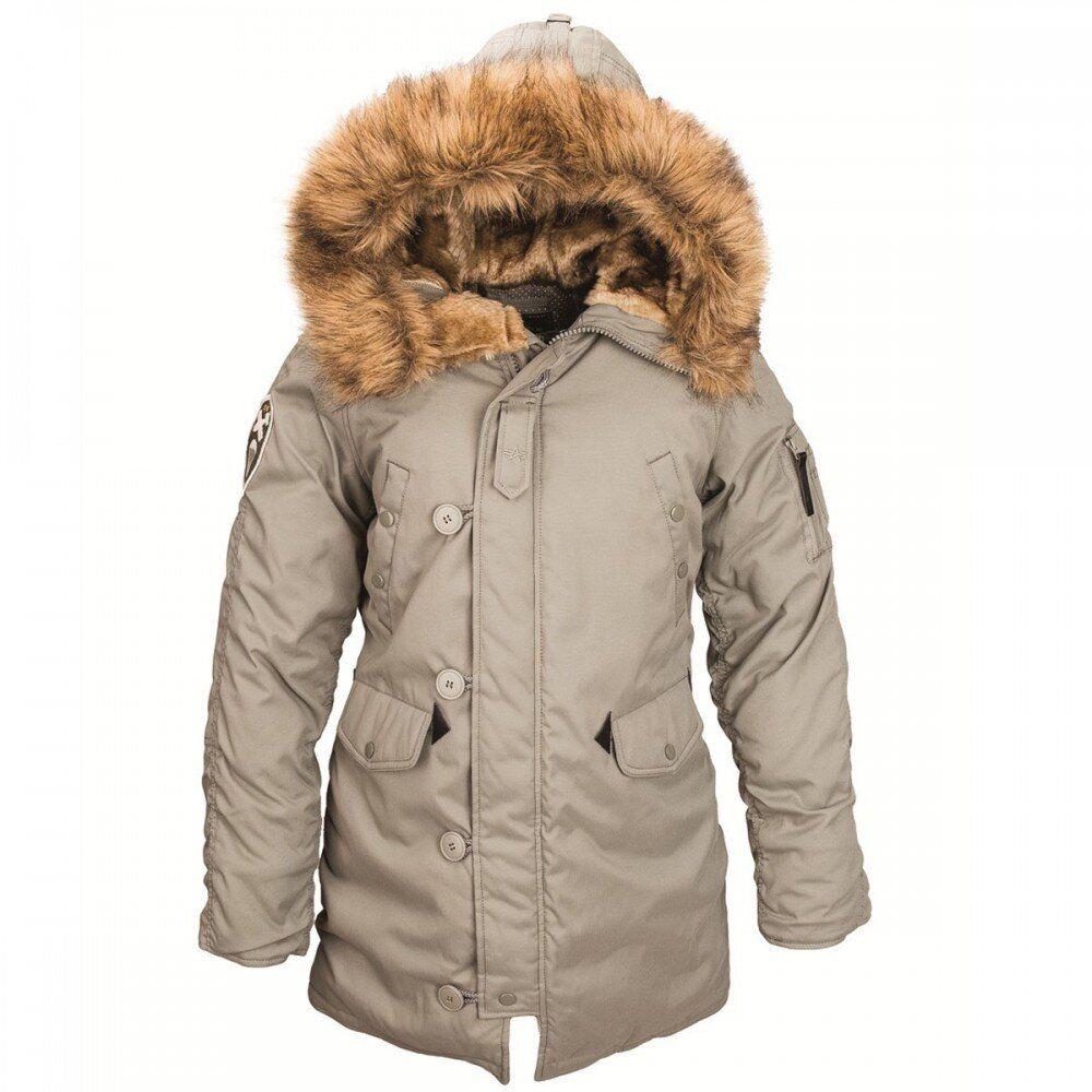 Зимняя женская куртка аляска Alpha Industries Altitude W Parka (Alaska Green) Klost