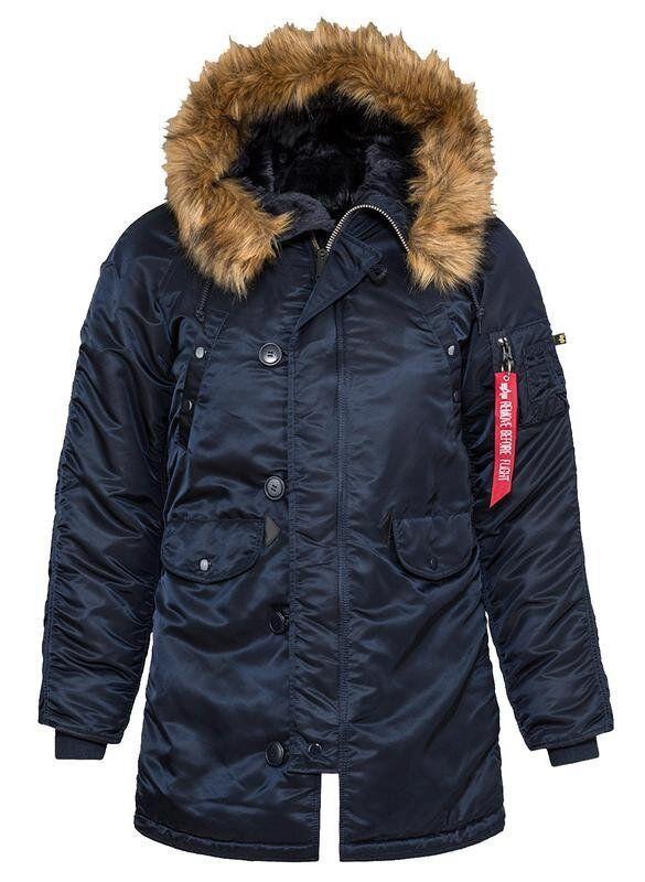 Женская зимняя куртка аляска Alpha Industries N-3B W Parka (Rep.Blue) Klost
