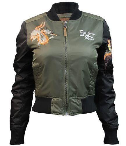 Оригинальный женский бомбер Miss Top Gun The Flying Legend Jacket (Olive) Klost