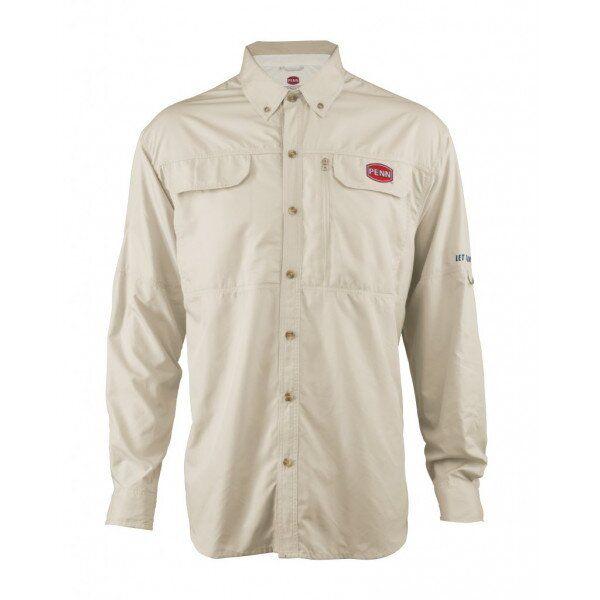 Рубашка PENN Technical Vented M LSTV 100 ply tan Klost