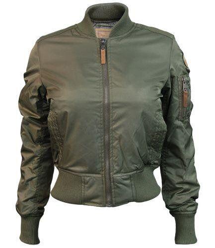 Женский бомбер Miss Top Gun MA-1 Bomber Jacket (Olive) Klost