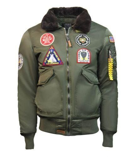 Бомбер Top Gun Eagle CW45 Jacket (Olive) Klost