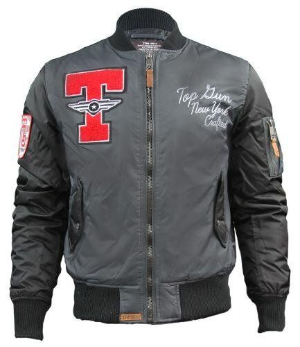 Бомбер Top Gun Stadium Varsity Jacket (Charcoal) Klost