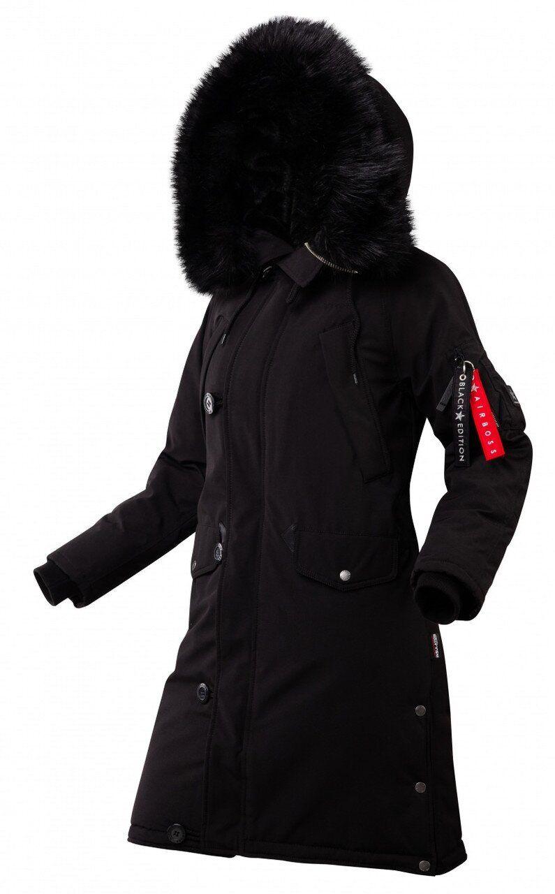 Оригинальная женская зимняя куртка N-5B Tardis W AIRBOSS (черная) Klost