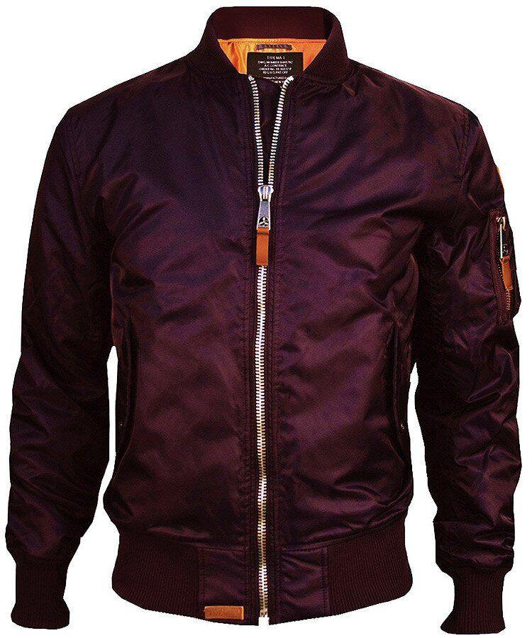 Летная куртка Top Gun MA-1 Bomber Jacket (Burgundy) Klost