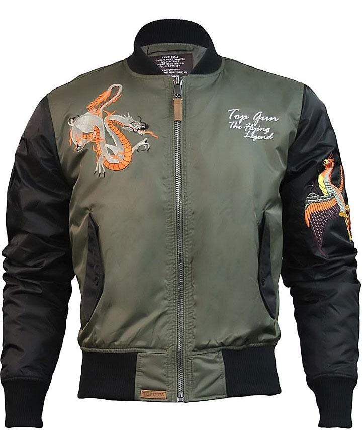 Оригинальный бомбер Top Gun The Flying Legend Bomber Jacket (Olive) Klost